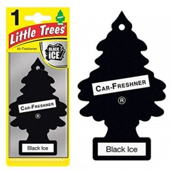 LITTLE TREES - BLACK ICE AIR FRESHENER 24 PACK