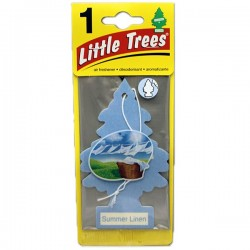 LITTLE TREES - SUMMER LINEN AIR FRESHENER 24 PACK