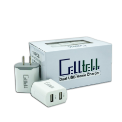 Celltekk Dual USB Car charger 10Pc Display Box