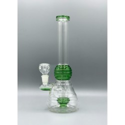 GLASS PCL3559 RIBBED RING WATER PIPE