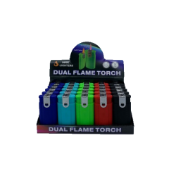 Dual Flame Torch Lighter 25CT Display Box