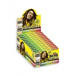 BOB MARLEY ROLLING PAPER + 33 TIPS KING SIZE 24pks