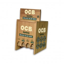 OCB BAMBOO CIGARETTE PAPER 4 BOX DISPLAY